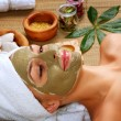 Spa Mud Mask. Woman in Spa Salon — Stock Photo