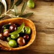 Olives and Olive Oil — Stock Photo #21975059