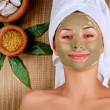 Spa Mud Mask. Woman in Spa Salon - Stock Photo