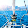 Yacht. Sailing. Yachting. Tourism. Luxury Lifestyle — Stock Photo #21975369