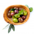 Olives and Olive Oil — Stock Photo #21975455