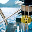 Yacht. Yachting. Sailboat Winch and Rope Yacht detail — Stock Photo #21975497