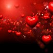 Valentine Hearts Background. Valentines Red Abstract Wallpaper — Stock Photo