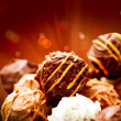 Assorted Chocolate Candies. Sweets. Candy Border Design - Foto Stock