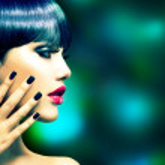 Fashion Woman Profile Portrait. Vogue Style Model — Stock Photo