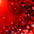 Valentine Hearts Abstract Red Background. St.Valentine's Day - Stock Photo