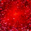 Valentine Hearts Abstract Red Background. St.Valentine&#039;s Day - Stock Photo