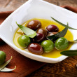 Olives and Olive Oil  — Stok fotoğraf
