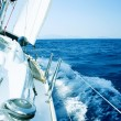 Yacht. Sailing. Yachting. Tourism. Luxury Lifestyle - Foto de Stock  