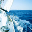 Yacht. Sailing. Yachting. Tourism. Luxury Lifestyle - Stok fotoğraf