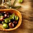 Olives and Olive Oil — Stock Photo #21976209