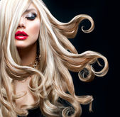 Blond Hair. Beautiful Sexy Blonde Girl — Stok fotoğraf