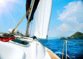 Yacht. Sailing. Yachting. Tourism. Luxury Lifestyle — Stock Photo