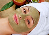 Spa Mud Mask. Woman in Spa Salon — Foto Stock
