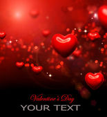 バレンタインの心の背景。バレンタイン赤抽象的な壁紙 — ストック写真