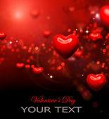 Valentine hjärtan bakgrund. alla hjärtans röda abstrakt tapet — Stockfoto