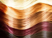 Palette de couleurs de cheveux. texture de cheveux — Photo