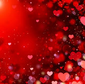 Valentine Hearts Abstract Red Background. St.Valentine's Day — Stock Photo