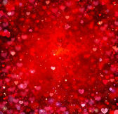 Valentine Hearts Abstract Red Background. St.Valentine's Day — Stockfoto