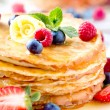 Royalty-Free Stock Photo: Pancake. Crepes With Berries. Pancakes stack