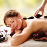 Spa Salon. Stone Massage. Dayspa — Stock Photo