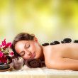 Spa Salon. Stone Massage. Dayspa — Stock Photo #24593069