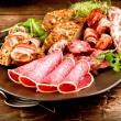 Sausage. Various Italian Ham, Salami and Bacon — Stock Photo