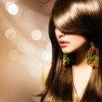 Beautiful Brunette Girl. Healthy Long Brown Hair — Stock Photo