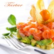 Salmon Tartar over White Background — Stock Photo #24593127