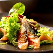 Salad With Smoked Eel with Unagi Sauce — Stock Photo #24593321