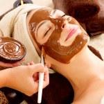 Chocolate Mask Facial Spa. Beauty Spa Salon — Stock Photo #24593323