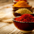 Spices Curry, Saffron, Turmeric — Stock Photo #24593467