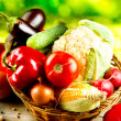 Foto Stock: Healthy Organic Vegetables. Bio Food