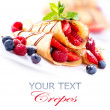 Stock Photo: Crepes With Berries over White