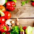 Healthy Organic Vegetables. Bio Food — Stock Photo