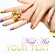 Stock Photo: Manicure. Fashion Metallic Nail polish