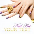 Manicure. Fashion Metallic Nail polish — Stock Photo