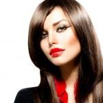 Fashion Woman Portrait. Stylish Model. Beauty Makeup — Stock Photo