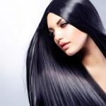 Beautiful Brunette Girl. Healthy Long Hair — Stock Photo #24594147