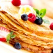 Pancake. Crepes With Berries. Pancakes stack - Stock Photo