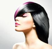 Módní vlasy. účes — Stock fotografie
