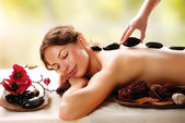 Spa Salon. Stone Massage. Dayspa — Foto de Stock