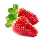 Strawberry. Strawberries Isolated on a White Background — Stock Photo