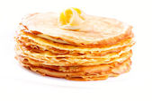 Pancakes stack isolated on White — Stock Photo