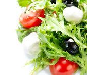 Salad with Mozzarella Cheese — Stock Photo