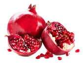 Pomegranates isolated on a White Background. Organic Bio fruits — Stock Photo