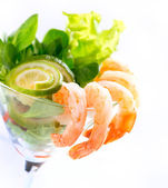 Shrimp or Prawn Cocktail. Isolated on White — Stock Photo