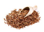 Flax seeds, Linseed, Lin seeds close-up — ストック写真