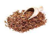 Vlas zaden, lijnzaad, lin zaden close-up — Stockfoto