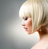 Beautiful Model with Short Blond hair — Stock Photo